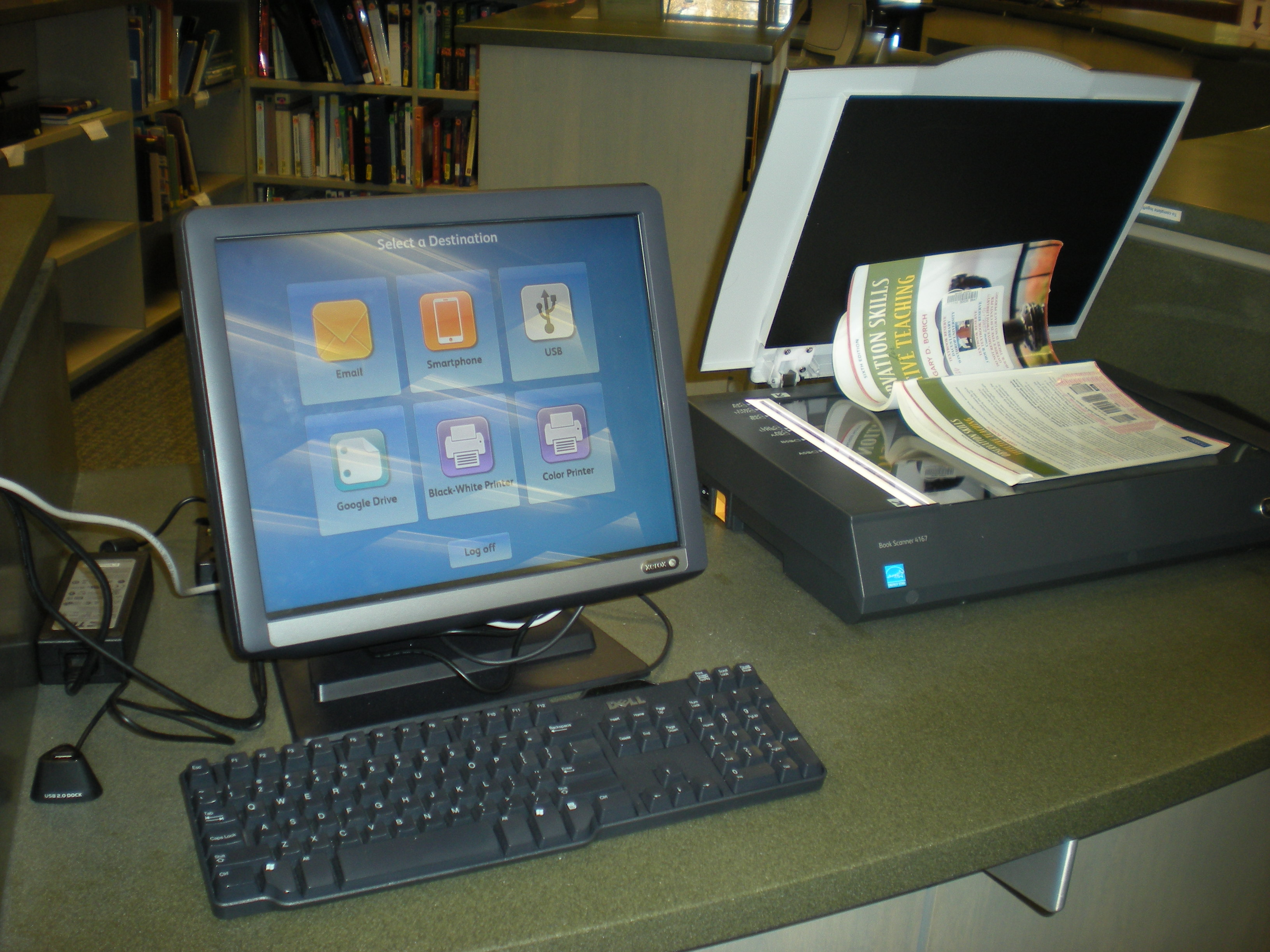 Pictured is the new touch screen scanner in Dacus Library.    Photo by Frances Parrish • parrishf@mytjnow.com