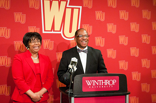 Ulysses Hammond stands with his wife Christine. Photo courtesy of Winthorp Public Relations