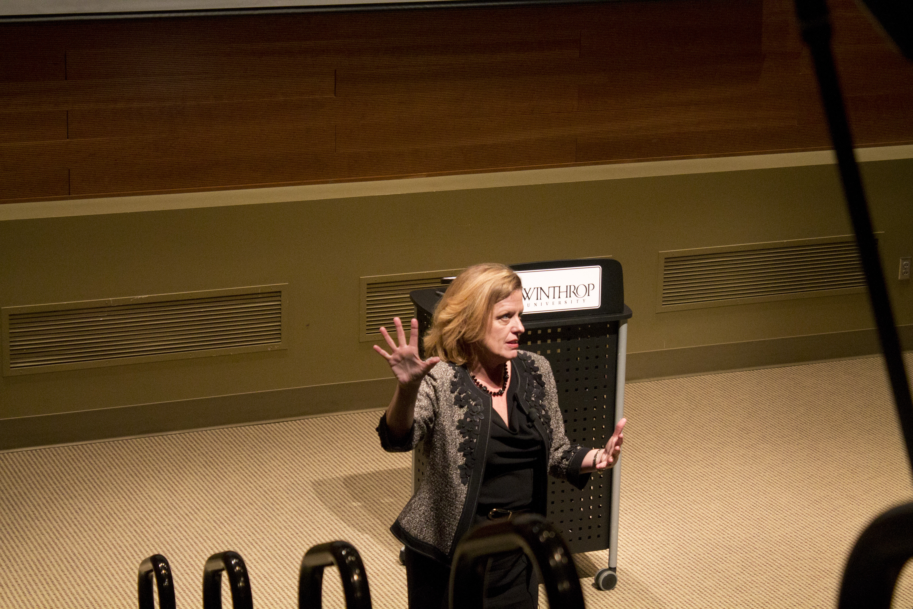 Dr. Jayne Comstock speaks to faculty and answers any question.Photo by Frances Parrish • parrishf@mytjnow.com