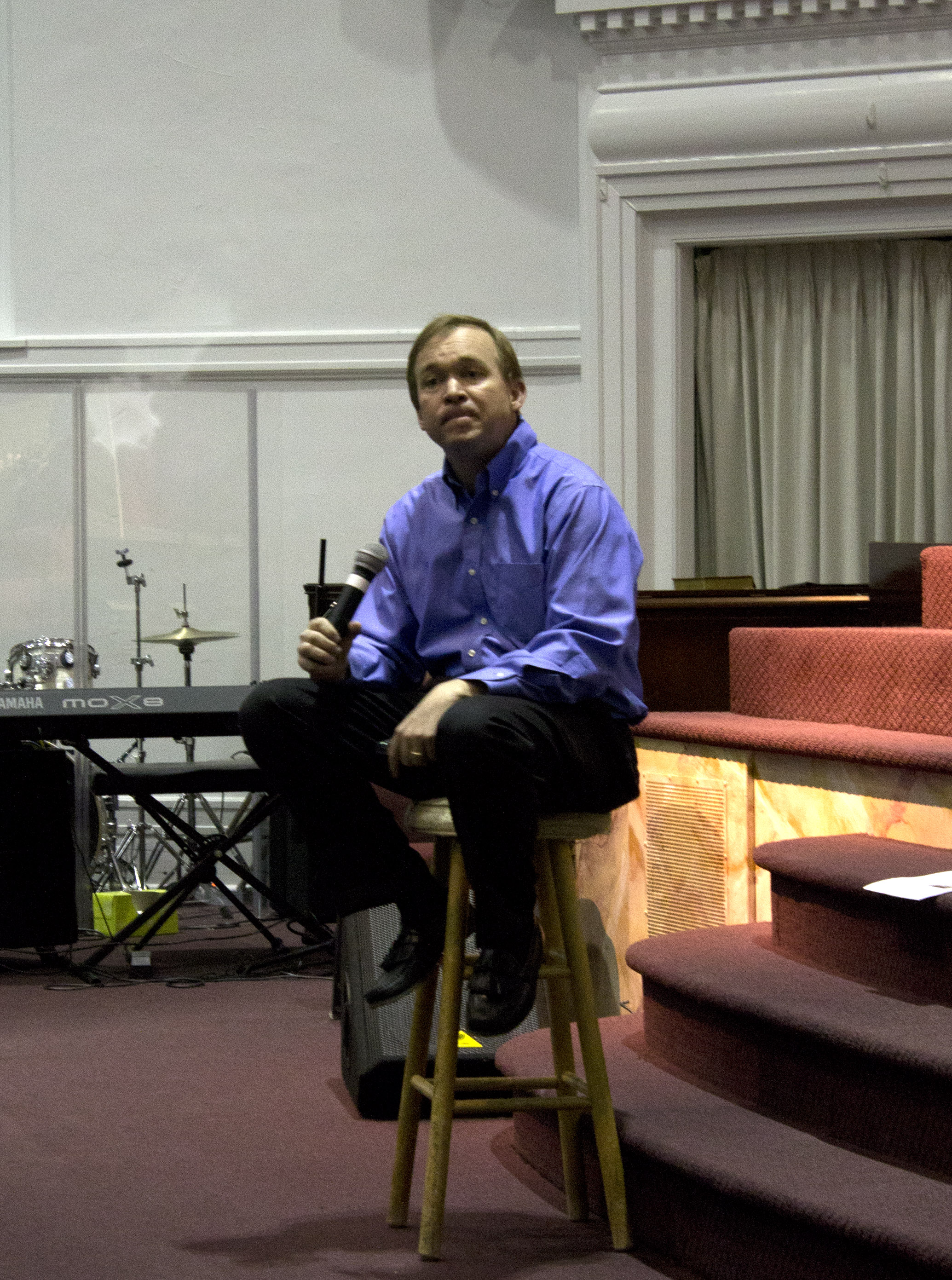 Rep. Mulvaney speaks to audience at a town hall meeting