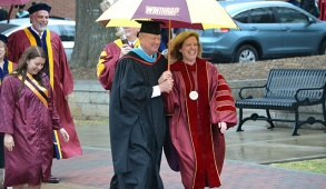 President Williamson and her husband Larry moments after last month's Investiture Ceremony. Photo by Frances Parrish