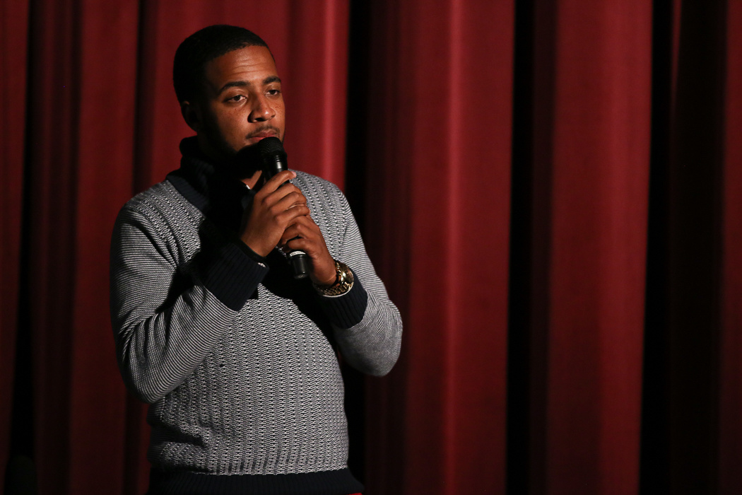 Alumnus Ray Singleton performed at the Talent Show
