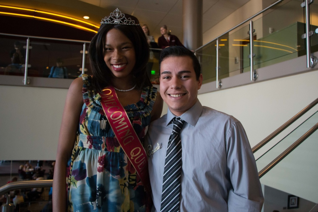 Roberto Avalos posing with last years Homecoming Queen Daisy Burroughs. Photo by Jacob Hallex